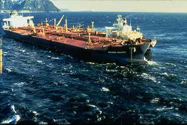 The Exxon Valdez.  So much wasted fuel.